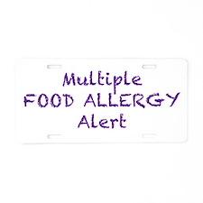 Multiple Food Allergy Alert Aluminum License Plate