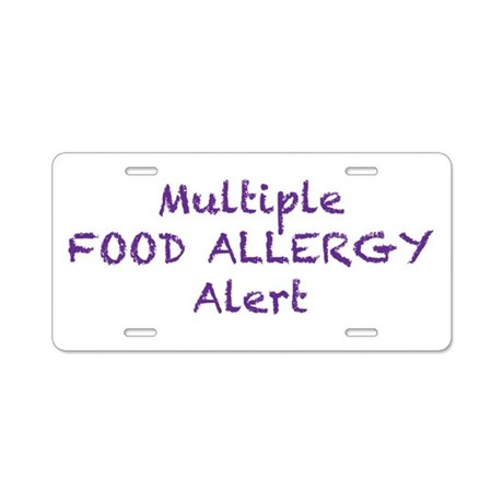 Multiple Food Allergy Alert Aluminum License Plate