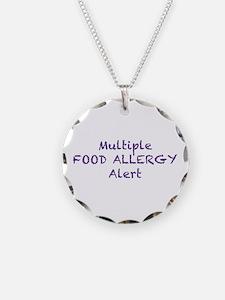 Multiple Food Allergy Alert Necklace