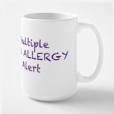 Multiple Food Allergy Alert Large Mug