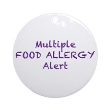 Multiple Food Allergy Alert Ornament (Round)