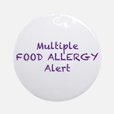 Multiple Food Allergy Alert Ornament (Round)