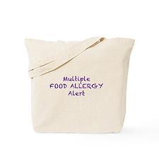 Multiple Food Allergy Alert Tote Bag