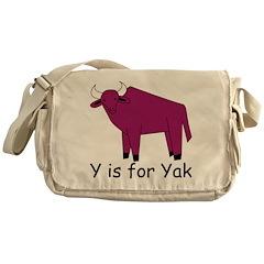 Y is for Yak Messenger Bag