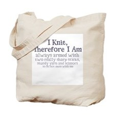 Cute Therefore i am Tote Bag