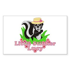 Little Stinker Lucy Sticker (Rectangle 10 pk)