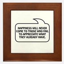 Happiness Bubble 1 Framed Tile