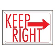Keep Right Banner