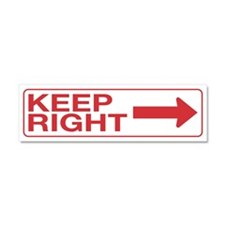 Keep Right Car Magnet 10 x 3