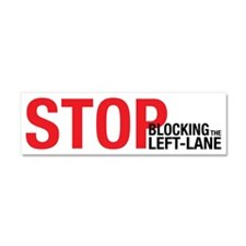 Stop Blocking Car Magnet 10 x 3
