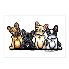 Four Frenchies Postcards (Package of 8)