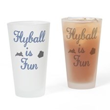 Flyball is Fun Drinking Glass