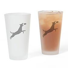 Disc Dog Drinking Glass