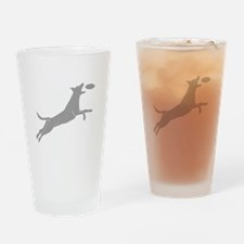 Disc Dog Drinking Glass