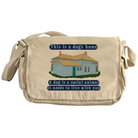 Dog's Home Messenger Bag