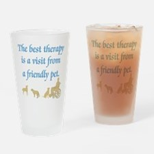 Best Therapy Is A Visit Drinking Glass