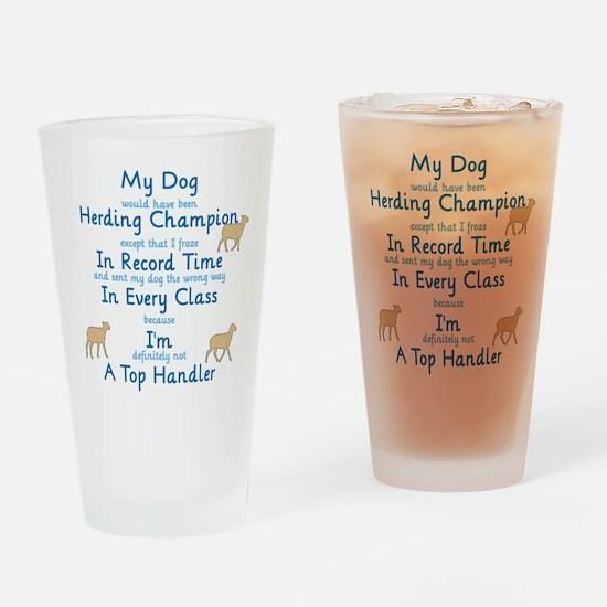 Herding Top Handler Drinking Glass