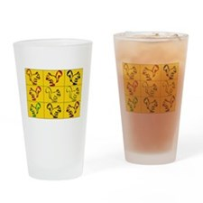 A Little Squirrely Yellow Drinking Glass