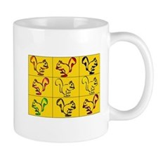 A Little Squirrely Yellow Mug
