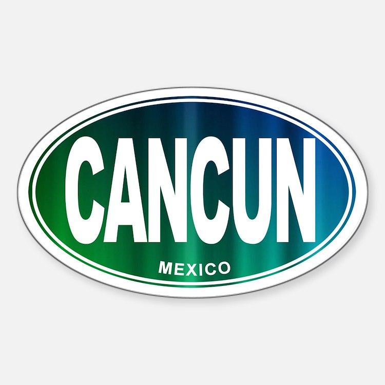 Cancun Mexico - Sticker (Oval)