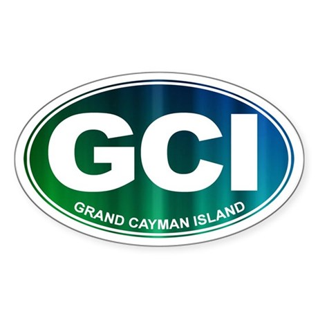 GCI - Grand Cayman Island - Sticker (Oval)