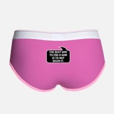 Anti War Bubble 1 Women's Boy Brief