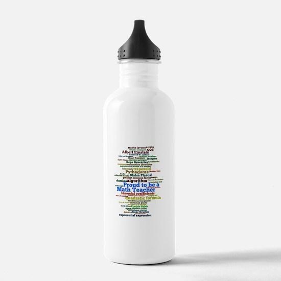 Math Teacher's Sports Water Bottle