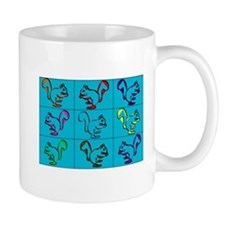 A Little Squirrely Aqua Mug