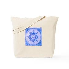 Blue Wind Rose Tote Bag