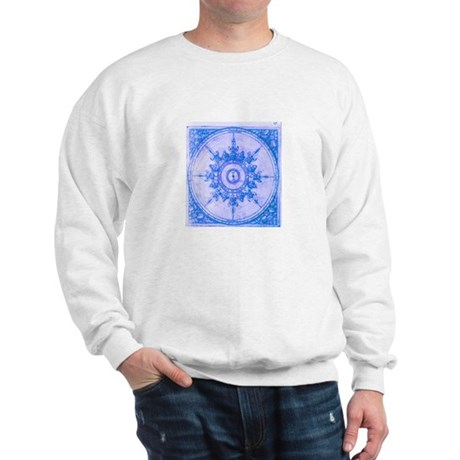 Blue Wind Rose Sweatshirt