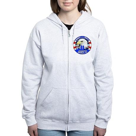 9-11 Sept 11 10th Anniversary Women's Zip Hoodie