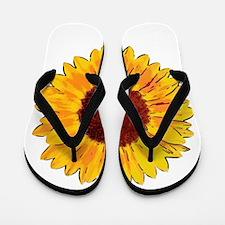 Summer Flowers Flip Flops
