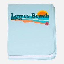 Lewes Beach DE - Beach Design. baby blanket