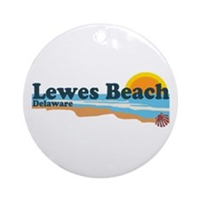 Lewes Beach DE - Beach Design. Ornament (Round)