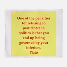 Wisdom of Plato Throw Blanket