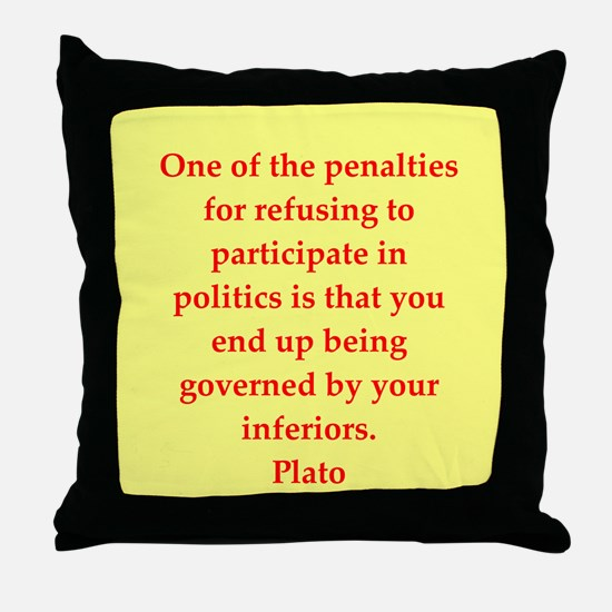 Wisdom of Plato Throw Pillow