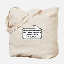 Procrastination Bubble 1 Tote Bag