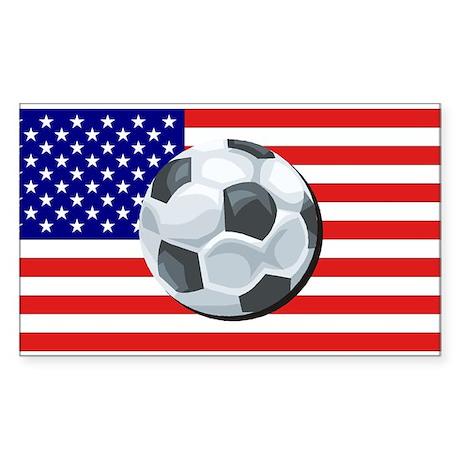 American Soccer Rectangle Sticker