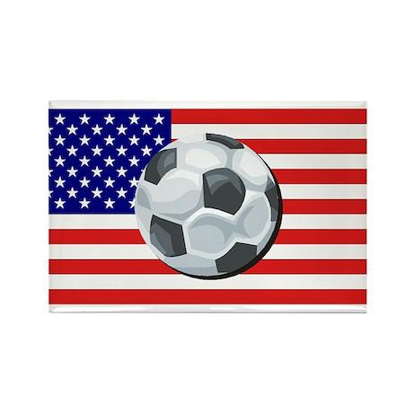American Soccer Rectangle Magnet