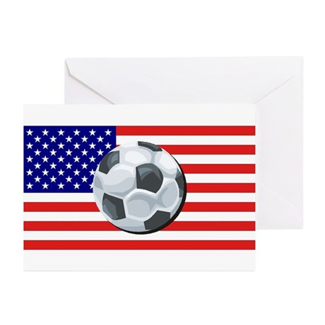 American Soccer Greeting Cards (Pk of 10)