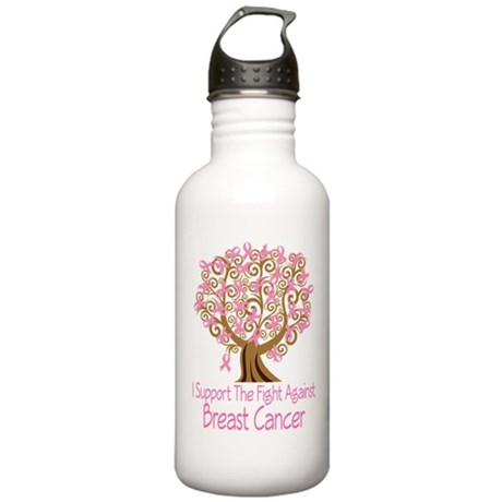 Support The Fight Breast Cancer Stainless Water Bo