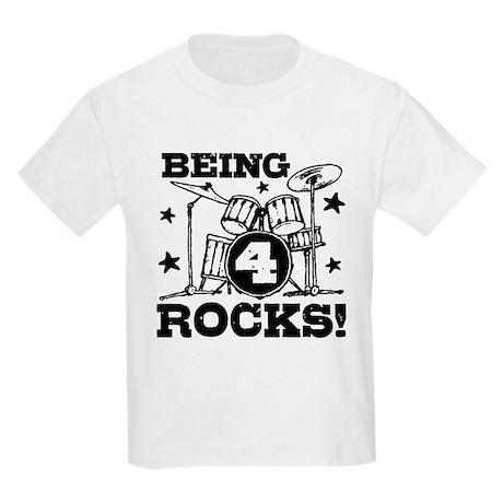 Cute 4th Birthday Kids Light T-Shirt