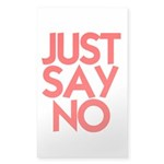 JUST SAY NO™ Sticker (Rectangle 50 pk)