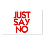 JUST SAY NO™ Sticker (Rectangle 10 pk)
