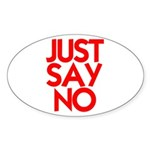 JUST SAY NO™ Sticker (Oval 50 pk)