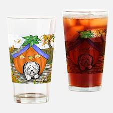 Pumpkin House Drinking Glass