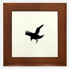 Black Crow Framed Tile
