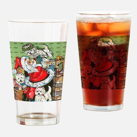 Santa's Little Helpers Drinking Glass