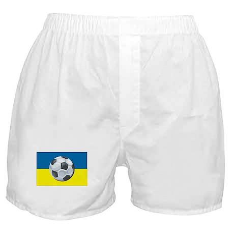 Ukraine Soccer Boxer Shorts