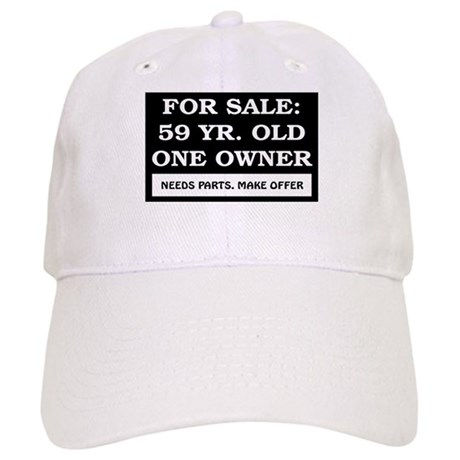 For Sale 59 Year Old Birthday Cap